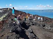 Climbing Mt Tavurur volcano  in Rabaul.j