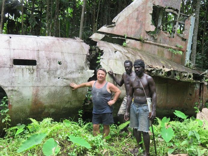 Admiral Yamamoto's plane wreck in Bougainville jungle