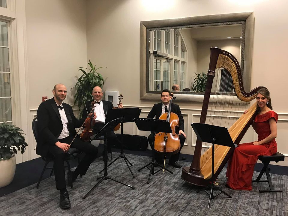 Harp and trio for a corporate event