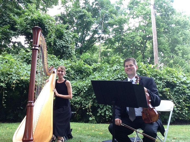 Harp and violin wedding