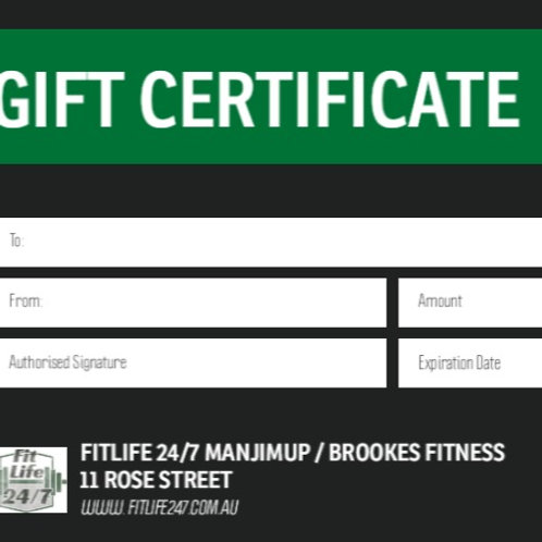 Gift Certificate$100
