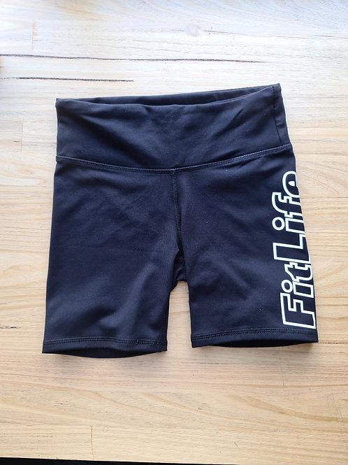 Black ( C.O.B ) FITLIFE booty shorts