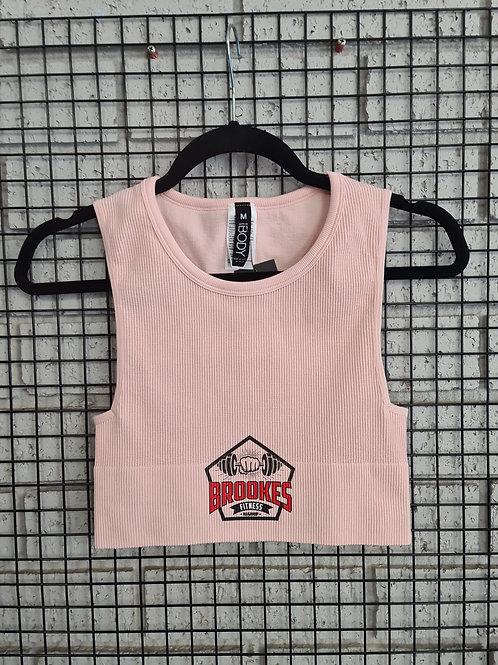 Pink crop bra BF