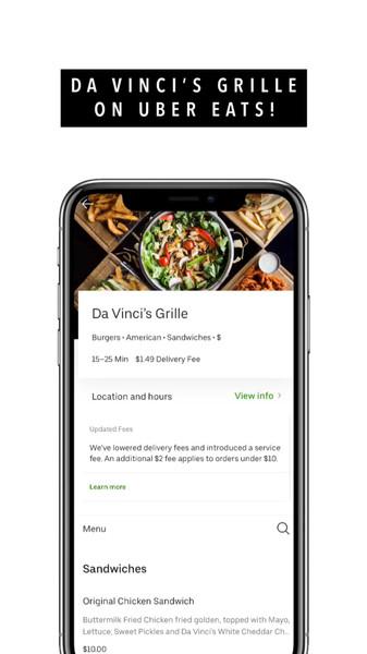 Da Vinci's Grille Uber Eats