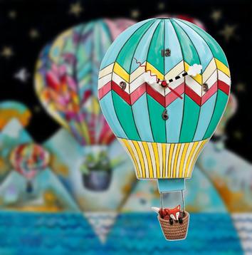 Hot Air Ballon Clock