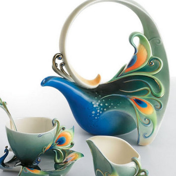 Franz Porcelain Peacock Spleandor.