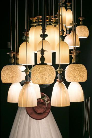 Lladro Mademoiselle Lamps