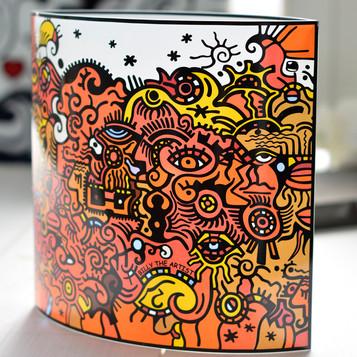 PopArt_BillyTheArtist_Lampe_Sunrise