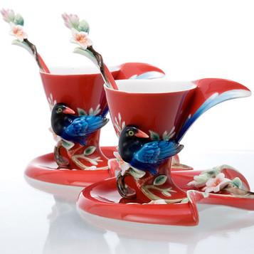 Franz Porcelain Joyful Magpie