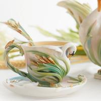 Franz Porcelain Swan Lake