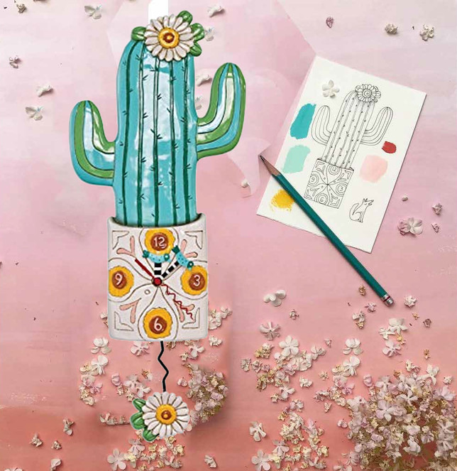 Desert Bloom Clock