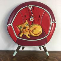 Cat in Chair Clock