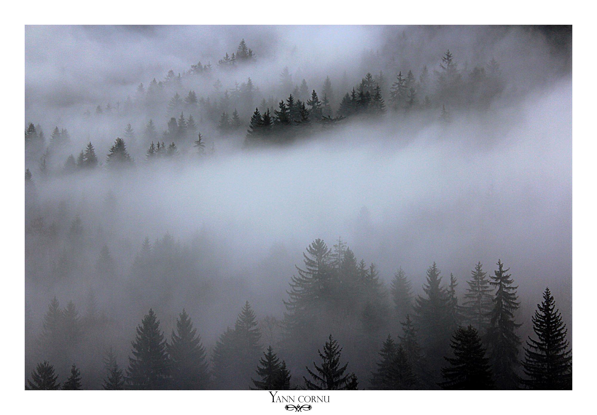 Brouillard à La Garde en Oisans