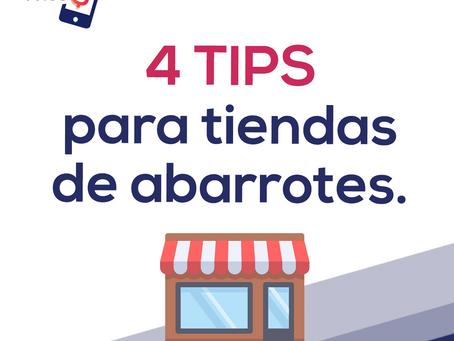 4 Tips para tiendas de abarrotes.