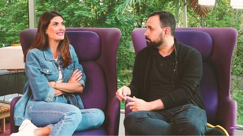 Isabella Fiorentino foi entrevistada por Alvaro Leme (Crédito: Reprodução/YouTube)
