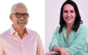 Edvaldo, do PDT, e delegada Daniele, do Cidadania, disputam o 2º turno em Aracaju