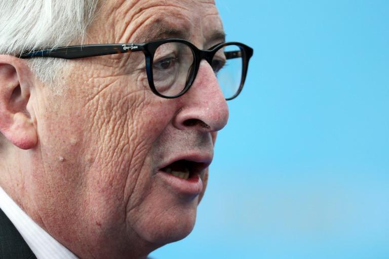 (12 Jul 2018) Presidente da Comissão Europeia, Jean-Claude Juncker, comparece à cúpula da Organização do Tratado do Atlântico Norte (Otan) em Bruxelas. Juncker deve se reunir com o presidente americano Donald Trump no final do mês em Washington - POOL/AFP/Arquivos