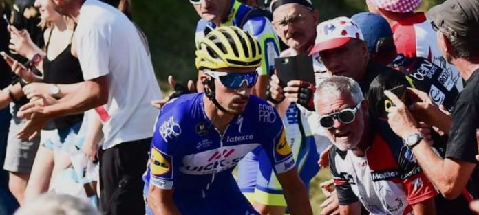 Julian Alanphilippe mantendo a boa aparência na 10ª etapa do Tour
