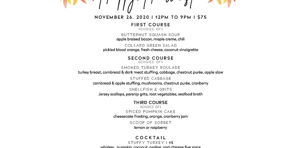 15% Off Thanksgiving Dinner at Marcus at NoHu Rooftop