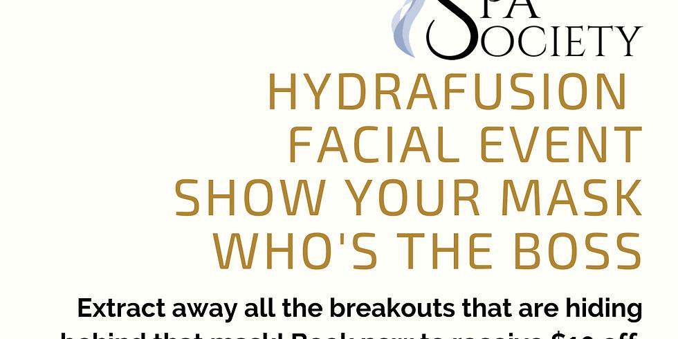 5% Off HydraFusion Facials as SpaSociety