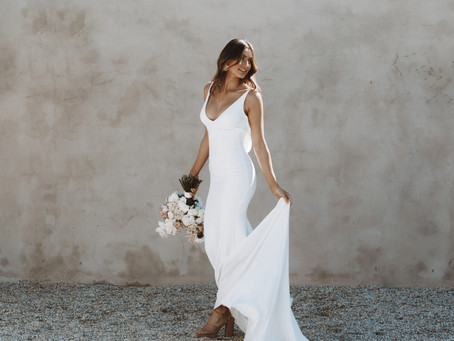 Cool in Crepe: Our 5 Fave Dresses for Intimate Weddings and Elopements