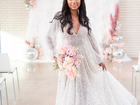 2021 Bridal Trend: All Over Sparkle
