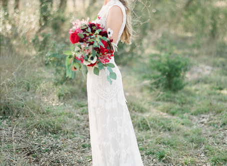 Real Bride Hannah in Claire Pettibone