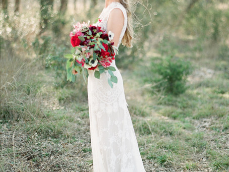 Real Bride Hannah in Claire Pettibone
