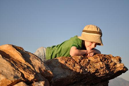 Charlie Ray being coy - Antelope Island State Park, Utah