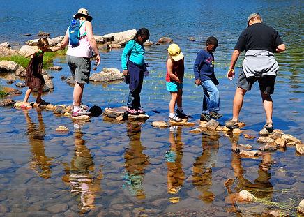 Trying to stay dry - Mirror Lake, Utah