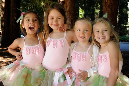 Budding ballerinas in their beautiful costumes by Steps n Stitches - Fairfax, California