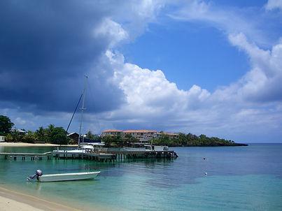 A tropical storm approaches Sundowners Bar - West End, Roatan, Honduras