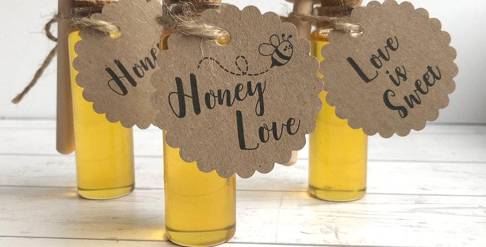 Méz parafadugós üvegcsében M-es méret