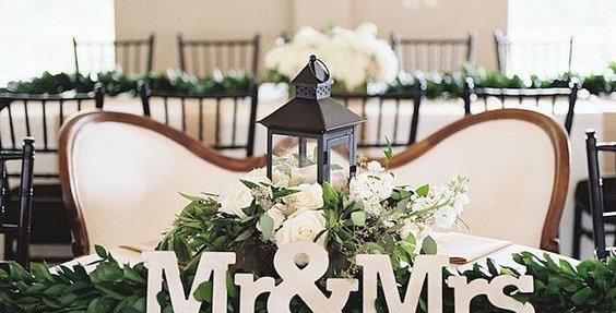 Mr & Mrs asztaldísz S-es méret