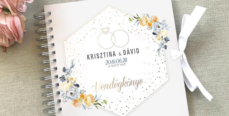 Esküvői vendégkönyv - S-es méret