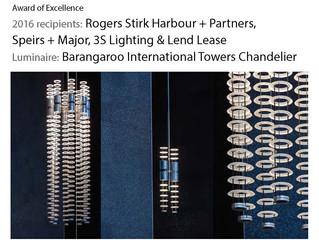 Barangaroo Chandeliers featured in IES NSW Sidelights