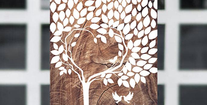 Kreatív emlékkönyv - Esküvői tábla S-es méret (Heart tree design)