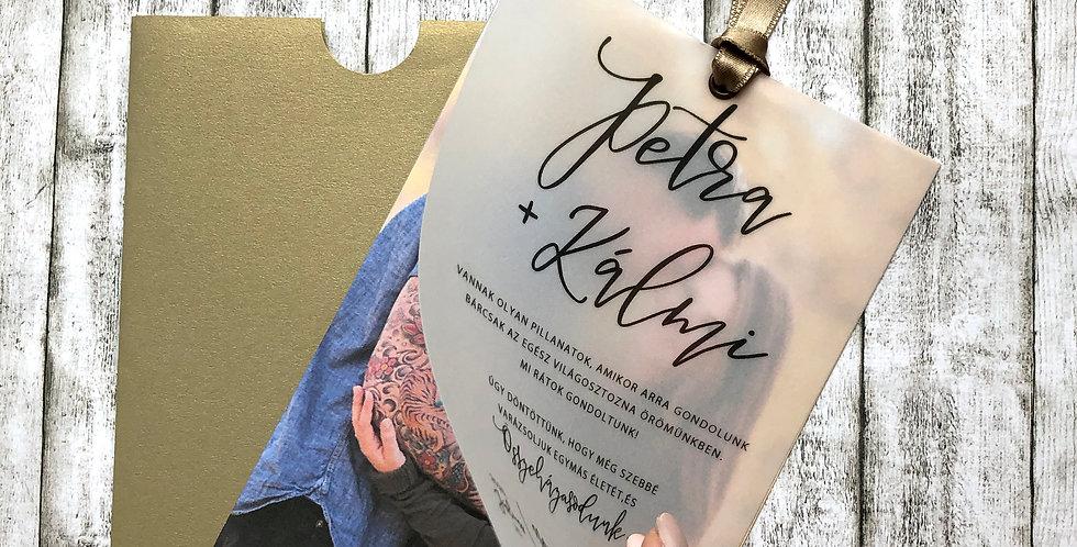 Esküvői meghívó - Pausz meghívó fényképpel