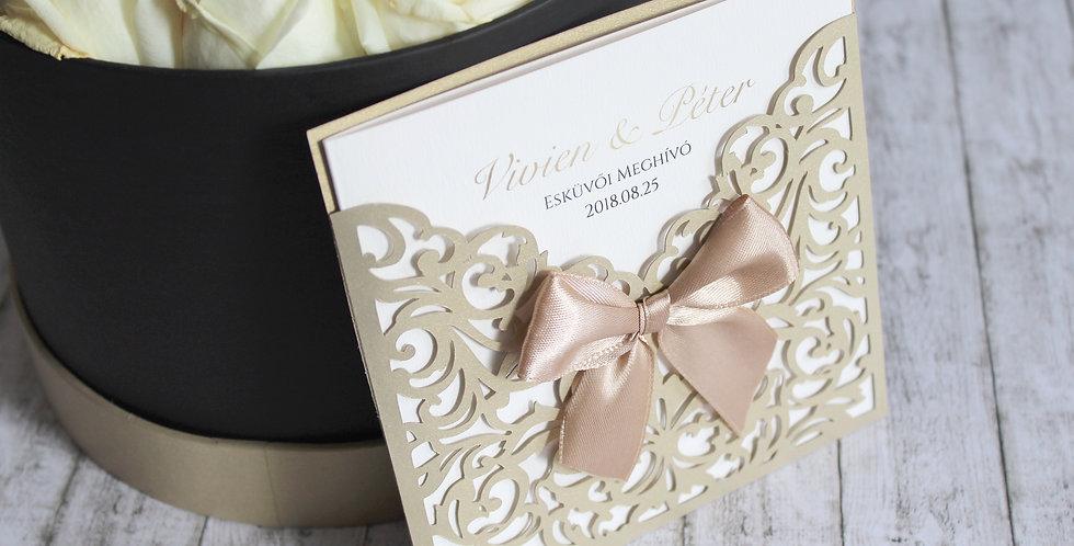 Esküvői meghívó - Papír csipke