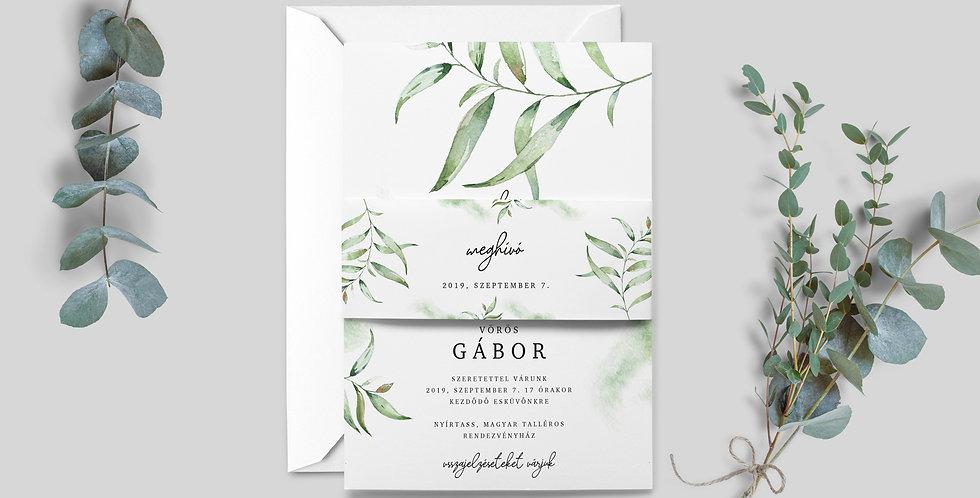 Esküvői meghívó - Greenery elegant