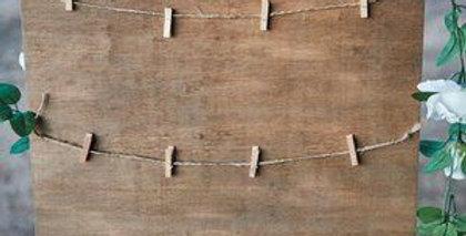 Ültetési rend - tábla csipeszekkel (M-es méret)