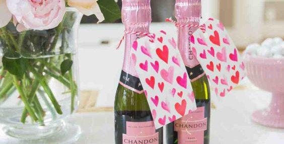 Valentin napi Mini pezsgő