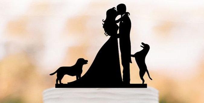 Esküvői Tortadísz - Sziluett