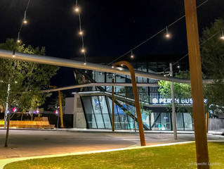 Catenary luminaires for new public space in Perth