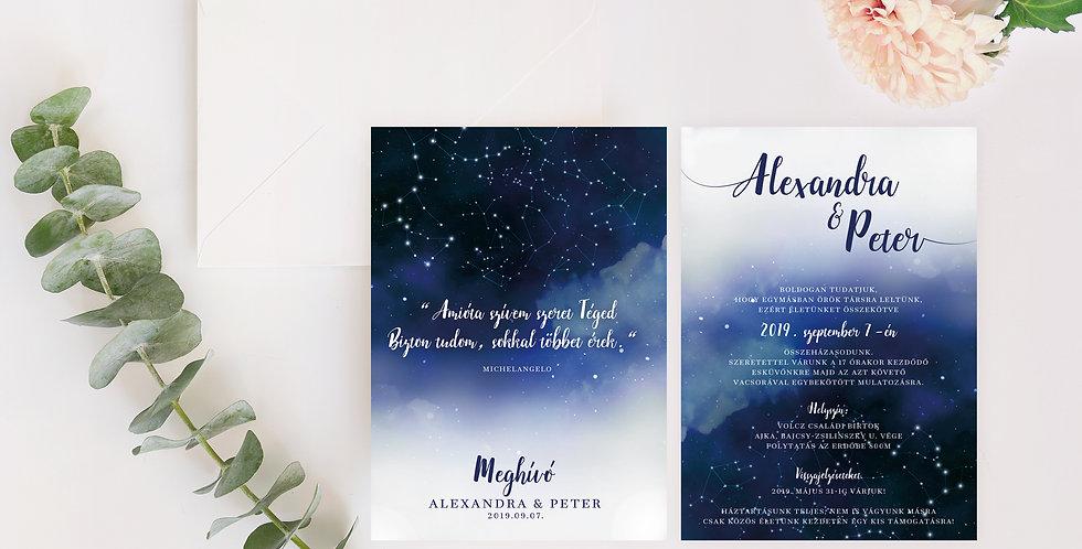 Esküvői meghívó - Blue sky