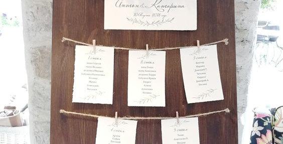 Ültetési rend - táblához asztal papírok