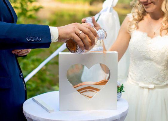 Esküvői szertartás - homok öntés