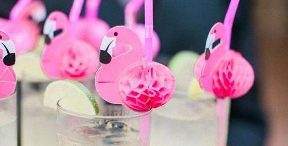 Party - Flamingó szívószál
