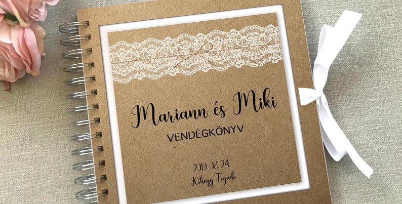 Esküvői vendégkönyv - M-es méret