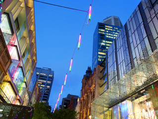 3S Lighting catenary system illuminating one of world's most expensive retail destination...